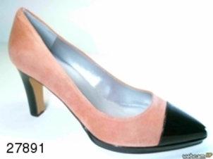 Zapato de vestir de ante-charol color gris (27891)