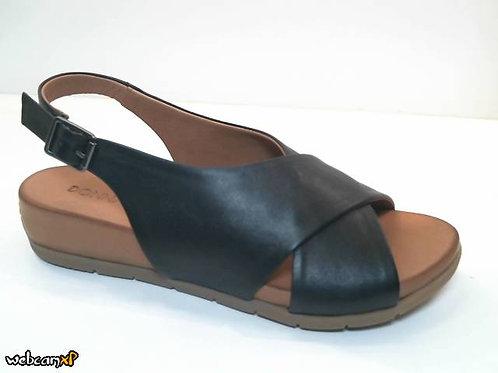 Sandalia de piel color negro (32469)