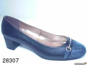 Zapato de vestir de famarpytone-seta color negro (28307)