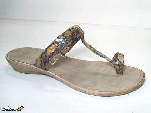 Sandalia de babysnake color mostaza (31741)