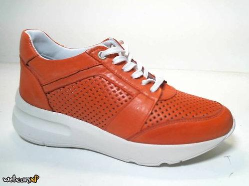 Deportivo de piel suave color rojo (31763)