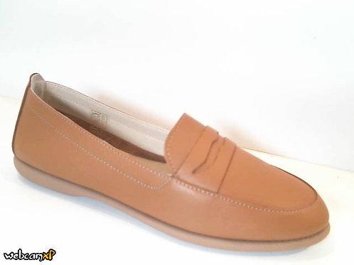 Mocasín de piel color cuero (31999)