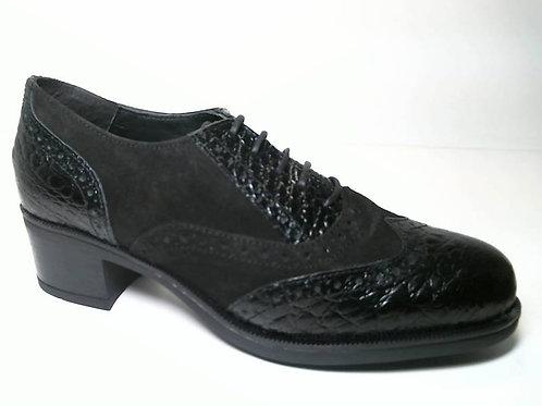 Zapato de vestir de coco-sserraje color negro (29658)