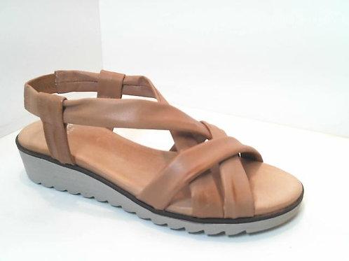 Sandalia de tubular color cuero (32588)