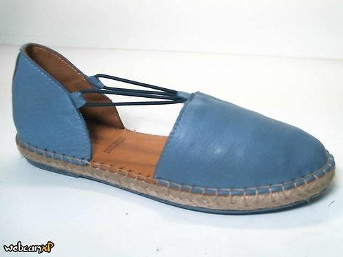 Alpargata de piel color azul (31846)