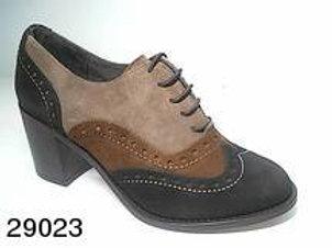 Zapato de vestir de serraje color marron (29023)