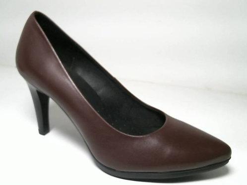Zapato de vestir de seta color burdeos (29333)