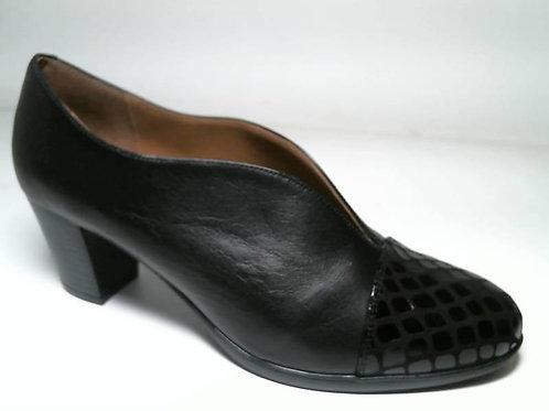 Zapato de vestir de antehuella-napa color negro (29105)