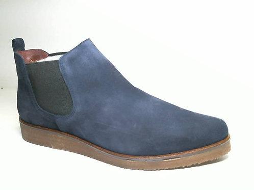 Botín de serraje color azul (29441)