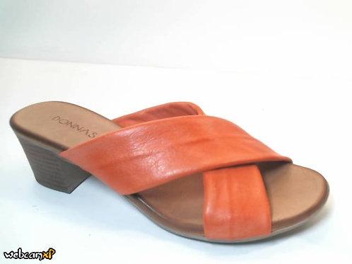 Sandalia de piel color rojo (32430)