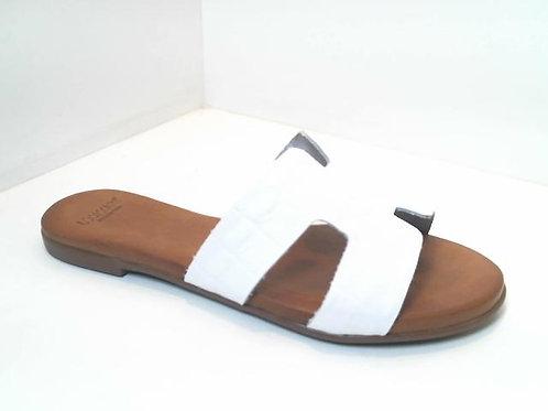 Sandalia de croco color blanco (32535)
