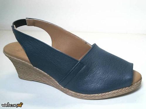 Sandalia de piel icaro color azul (31878)