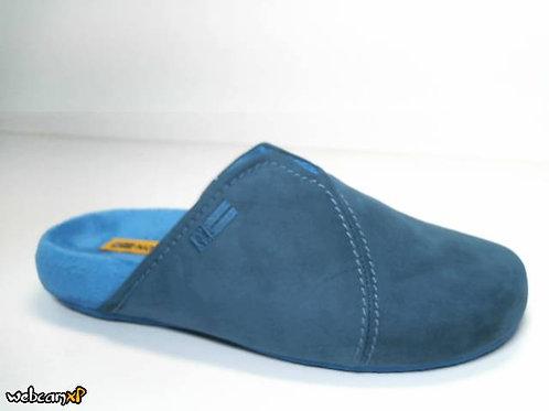 Zapatilla de casa de microsuede color azul (31537)