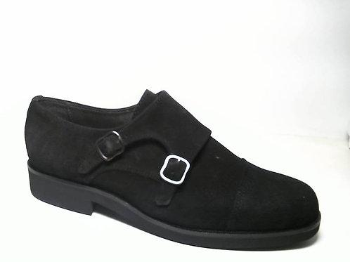 Zapato de vestir de serraje color negro (29471)