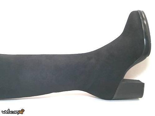 Bota de microfibra elastica color negro (32153)