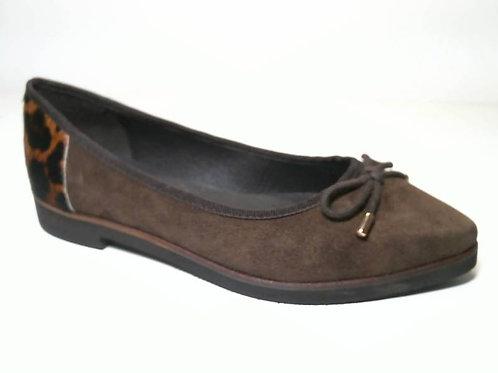 Zapato de vestir de crosta color marron (29526)