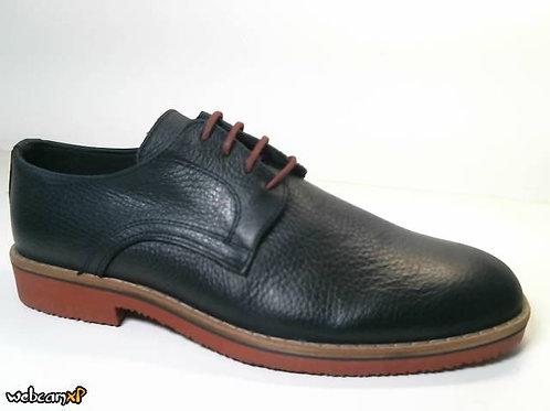 Zapato tipo casual de piel galicia color azul (31478)