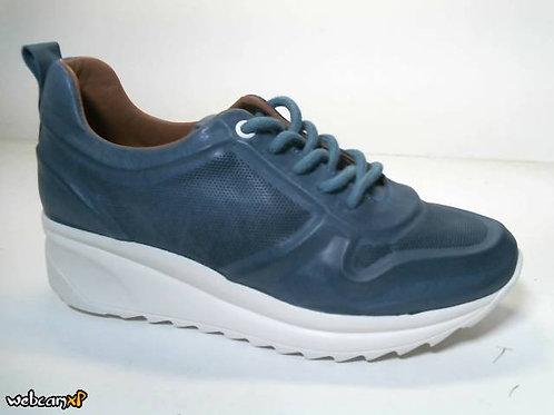 Deportivo de piel color azul (31755)