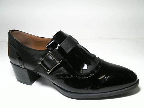 Zapato de vestir de charol-napa color negro (29082)
