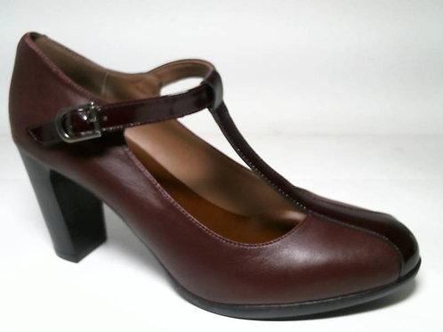 Zapato de vestir de charol-napa color burdeos (29116)