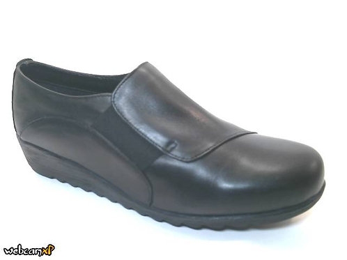 Zapato tipo casual de napa color negro (32127)