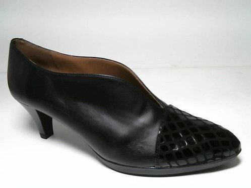 Zapato de vestir de antehuella-napa color negro (29106)