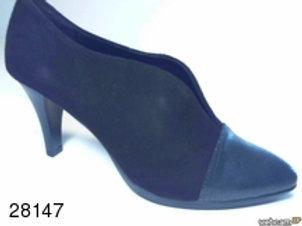 Zapato de vestir de abeja-ante color negro (28147)