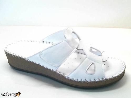 Sandalia de piel color blanco (32418)