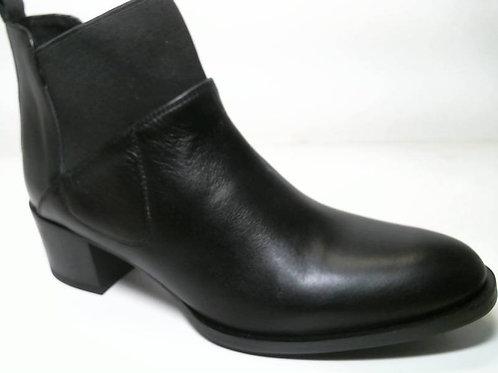 Zapato de vestir de anilina-antick color negro (29492)