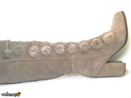 Bota de crosta color beige (30391)