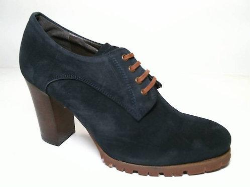 Zapato de vestir de serraje color azul (29578)