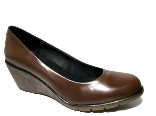 Zapato de vestir de seta color cuero (29397)