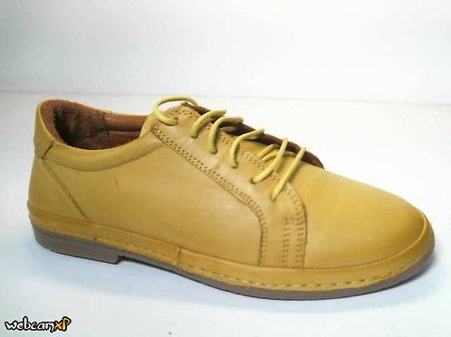 Deportivo de piel color amarillo (31831)