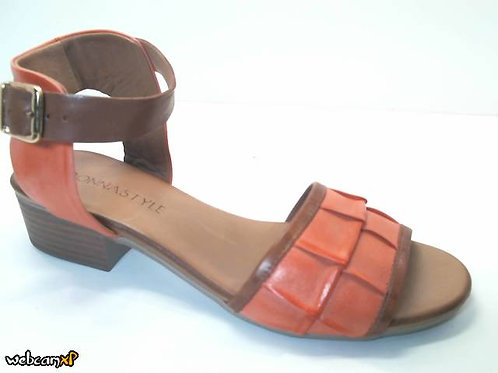 Sandalia de piel color rojo (32444)