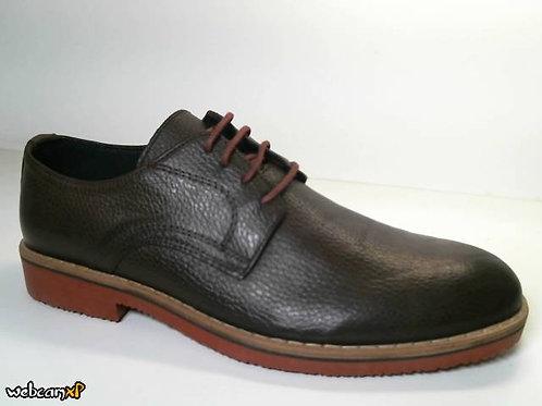 Zapato tipo casual de piel galicia color marron (31477)