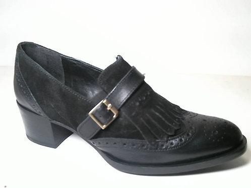 Zapato de vestir de anilina-serraje color negro (29543)