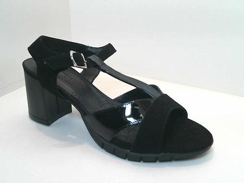 Sandalia de piel color negro (32560)