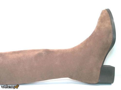 Bota de microfibra elastica color cuero (32147)