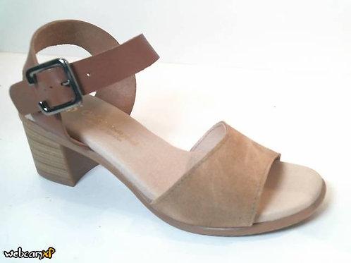 Sandalia de serraje color beige (32483)