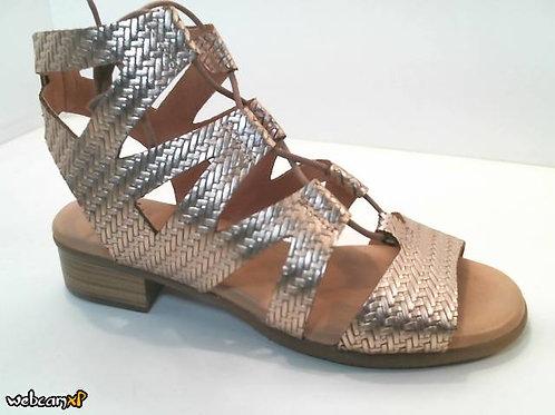 Sandalia de metal.espiga color metal (32490)