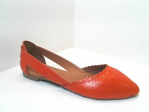 Sandalia de piel color rojo (32521)