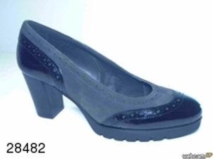Zapato de vestir de char.bom-ante color negro (28482)