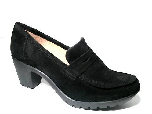 Zapato de vestir de serraje color negro (29384)