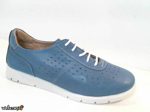 Deportivo de piel color azul (31994)