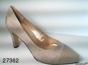 Zapato de vestir de ante-charol color beige (27362)