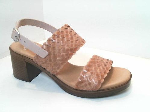 Sandalia de trenza/vaqueta color beige (32590)
