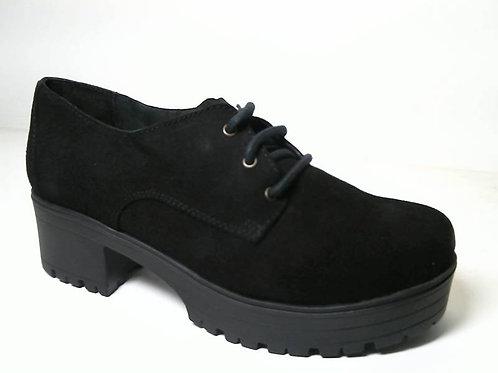 Zapato de vestir de serraje color negro (29603)