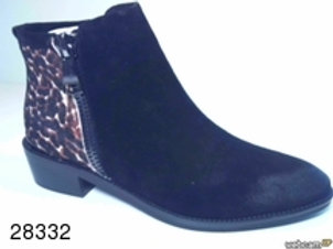 Botín de serral-puma color negro (28332)