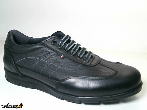 Zapato tipo casual de todo escada color negro (31481)
