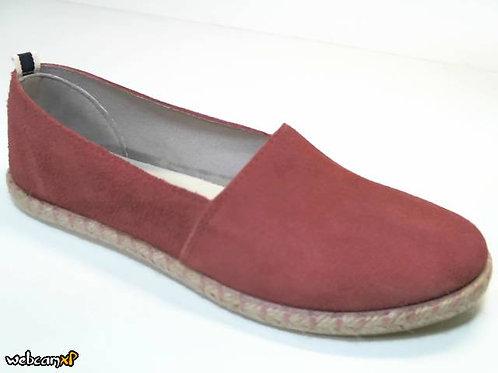 Zapato tipo casual de serraje color rosa (29948)